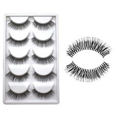 5 Pairs Fake Eye Lashes Makeup Handmade Natural 3D Long Thick False Eyelashes