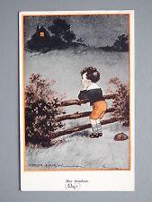 R&L Postcard: Comic, Fred Spurgin English Kids Inter Art, Her Window