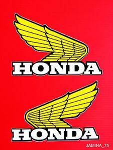 Honda XL70 XL75 XL80 XL100 XL125 XL175 Z50 Fuel Gas Tank Decal Sticker Wing Pair
