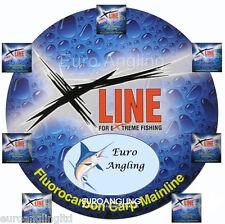 100m/250m/600m New X Line Xline Fluorocarbon Carp Fishing Line Any size 6lb-40lb