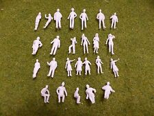 1:75 Scale OO Gauge Model Railway Unpainted Figures People - Pack of 25/50/100