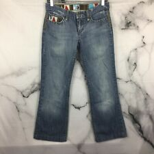 Joe's Jeans Women's Thick Stitched Embroidered Distressed Medium Wash Size 26