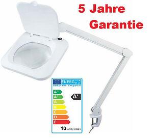 AUBYTEC® 10W LED HQ Lupenleuchte 960LUM XXL 19x16cm für Mezidinberufe 5J Gar.