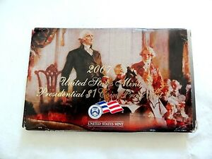 """2007 """"S"""" United States Presidential One Dollar Coin Proof Set With Case & C.O.A."""