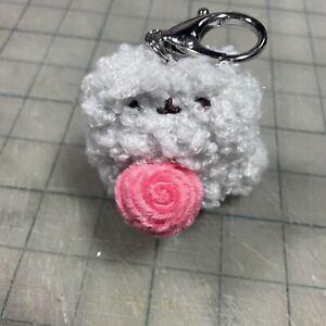 NeW GUND Surprise PUSHEEN Plush BOTANICAL Series 15 * STORMY w ROSE RaRe KeyClip