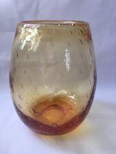 Whitefriars controllata Bubble Vaso in vetro ambrato (rif. P868)
