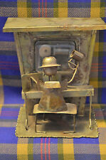 """Vintage Brass Musical """"Piano Man"""" Figure w/Mug of Beer in Hand on Bench"""