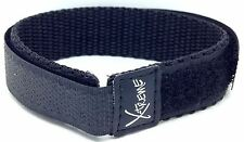 New X-Treme 16mm Wrap Around Hook & Loop Watch Band Strap Ladies Women's - Black