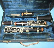 Vintage Selmer Wooden Clarinet Centered Toned As Is