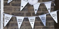 ❤ m. et & mme décoration mariage bunting garland festonné coeur carte bunting