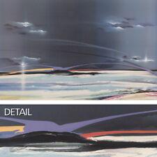 "58""x36"" MYSTIQUE by ELBA ALVAREZ - FUTURISTIC LINEAR HORIZON CANVAS"