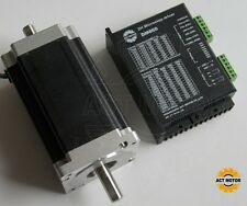 dual shaft  3.5A nema34 stepper motor 151mm,1600OZ /3.5A  with driver DM860 CNC