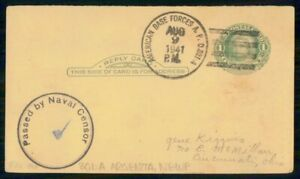 Mayfairstamps US APO 1941 CARD APO 801A ABF CENSORED wwi81491