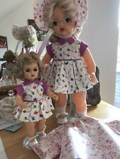 """Terri Lee 16"""" Windy Day special dress set and Tiny Terri Lee dress to match"""