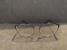 NEW Tom Ford Eyeglasses TF5573-B 005 Black Gold Cat Eye Size 55-17-140 Authentic