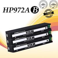 3 PK 972A Black Ink Cartridge For HP PageWide Pro 477dw 377dw 377dn 577dw 452dw