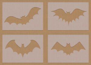 Bats stencils Batman crafting crafts decorating spray air brush mixed designs