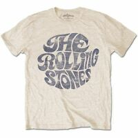 The Rolling Stones Vintage 70's Logo Official Merchandise T-Shirt M/L/XL - Neu