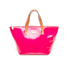 Auth Louis Vuitton Bellevue Monogram Vernis Fuchsia Pm Pink Patent Leather Tote