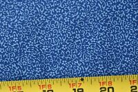 By 1/2 Yd, Vintage, Tiny Blue Print on Blue Quilt Cotton, P658