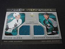 NHL ROOKIE INSPIRATION DUAL JERSEY TRADING CARD - RYANE CLOWE/ JONATHAN CHEECHOO