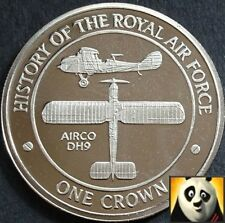 2008 GIBRALTAR 1 One Crown History of RAF Royal Air Force AIRCO DH9 Coin