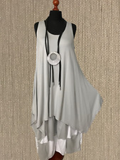 myo- lagenlook imitation de PATRON a-linie-top-tunika-kleid gris clair 44,46,