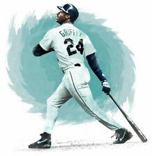 "MLB BASEBALL MARINERS KEN GRIFFEY JR. THE KID 13""X19"" SIZE POSTER PRINT ART #2"