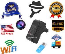 Mini WIFI HD 1080P SPY DVR Hidden Cam Charger Adapter Plug Lamp Video Record New