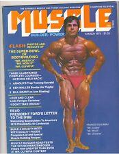 MUSCLE BUILDER bodybuilding magazine/FRANCO COLUMBU/Arnold Schwarzenegger 3-75