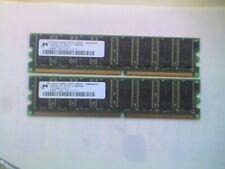 2 Micron MT8VDDT3264AG-335G5 (256MB DDR1 PC2700 333MHz DIMM 184-pin) DRAM - V
