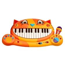 B. toys Meowsic Kid Toy Sing Along Play Record Little Piano Keyboard Microphone