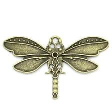 Dragonfly Charm/Pendant Tibetan Steampunk Antique Bronze 43mm  5 Charms Crafts
