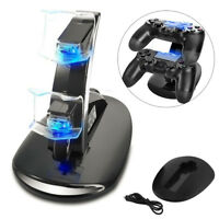 USB Dual Charging Charger Docking Station Stand for PS4 Playstation 4 Controller