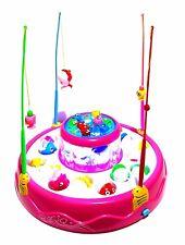 Kinder Gesellschaftsspiel Angel Spiel Fische Hai Angeln Spielzeug LED Musik Pink