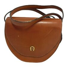 ETIENNE AIGNER Small Brown Genuine Leather Cross Body Bag16 X 15 X 5CM - A07