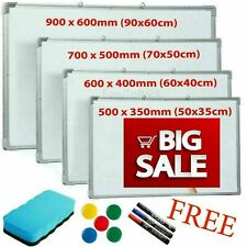 More details for magnetic whiteboard dry wipe drawing board small medium large office school home