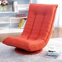Swivel Foldable Gaming Chair Recliner Floor Chair Lazy Sofa Chair Lounger Orange