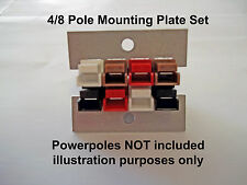 PIASTRE Montaggio Pannello 4/8 POLI PER 15-45 Amp Powerpoles-radio amatoriale KKR