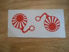 2 x Small JDM Bomb vinyl decals  / stickers for Japanese JDM / Drift 16 colours