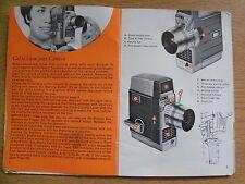 Instructions cine movie camera BELL & HOWELL Autoset III 8mm