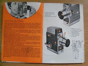 Instructions cine movie camera BELL & HOWELL Autoset III 8mm CD/Email