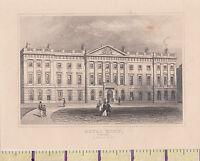 C1840 Victoriano Estampado~ Londres~ The Real Menta Torre Colina ~ Dugdales