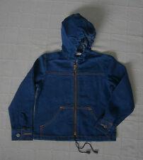Vintage Denim Jacket - Age 6 - Boy/Girl - Navy Denim with Hood - Zip-up - New
