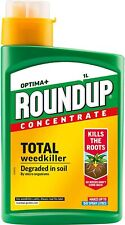 Roundup Optima+ Total Weedkiller Concentrate Kills The Roots 1 Litre