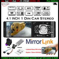 4.1'' Single 1 Din Coche MP5 Player In-Dash MP3 Audio Radio Estéreo FM Bluetooth