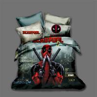 Deadpool Duvet Quilt Doona Cover Set Single/Double/Queen/King Size Bed Linen