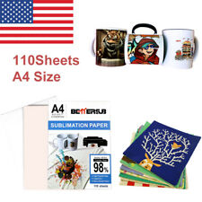 Bettersub 110 Sheets A4 Dye Heat Sublimation Transfer Paper For Sublimation Ink