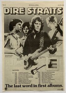 DIRE STRAITS 1978 original POSTER ADVERT LAST WORD IN FIRST ALBUMS Concert Tour