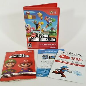 "New Super Mario Bros. Wii (Wii, 2009) "" Case / Artwork / Manual "" ONLY"
